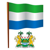 Sierra leone wavy flag — Stock Vector