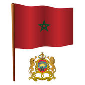 Morocco wavy flag — Stock Vector