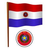 Paraguay wavy flag — Stock Vector
