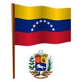 Venezuela wavy flag — Stock Vector