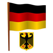 Germany wavy flag — Stock Vector
