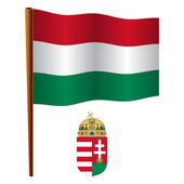 Hungary wavy flag — Stock Vector