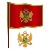 Montenegro wavy flag — Stock Vector