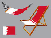Bahrain hammock and deck chair set — Stock Vector