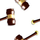 Wooden gavel pattern — Stock Vector