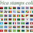 Vector de stock : Africa stamps collection