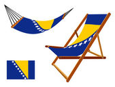 Bosnia and herzegovina hammock and deck chair set — Stock Vector