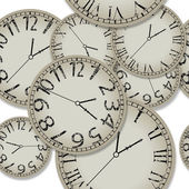 Shadowed clocks pattern — Stock Vector