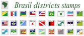 Brasil stamps — Stock Vector