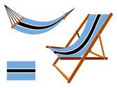 Botswana hammock and deck chair set — Stock Vector