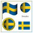 Sweden graphic set — Stock Vector