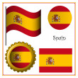 Spain graphic set — Stock Vector