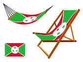 布隆迪吊床和甲板椅子套 — 图库矢量图片