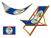 Belize hammock and deck chair set — Stock Vector