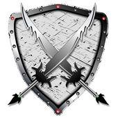 Heraldic design — Stock Vector