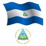 Nicaragua wavy flag and coat — Stock Vector #29748765