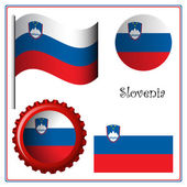Slovenia graphic set — Stock Vector