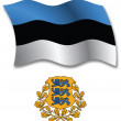 Estonia textured wavy flag vector — Stock Vector