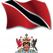 Trinidad and tobago textured wavy flag vector — Stock Vector