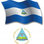 Nicaragua textured wavy flag vector — Stock Vector