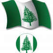 Norfolk island textured wavy flag vector — Stock Vector