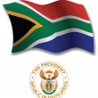 South africa textured wavy flag vector — Stock Vector