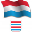 Stock Vector: Luxembourg textured wavy flag vector