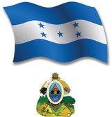 Honduras textured wavy flag vector — Stock Vector