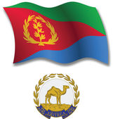 Eritrea textured wavy flag vector — Stock Vector