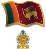 Sri lanka textured wavy flag vector — Stock Vector