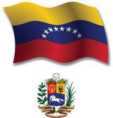 Venezuela textured wavy flag vector — Stock Vector