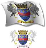 Saint barthelemy textured wavy flag vector — Stock Vector