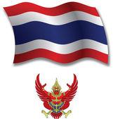 Thailand textured wavy flag vector — Stock Vector