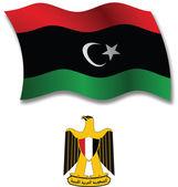 Libya textured wavy flag vector — Stock Vector