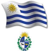 Uruguay textured wavy flag vector — Stock Vector
