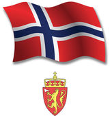 Norway textured wavy flag vector — Stock Vector