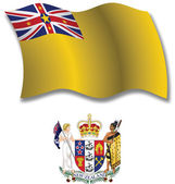 Niue textured wavy flag vector — Stock Vector