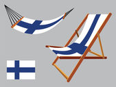 Finland hammock and deck chair set — Stock Vector