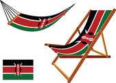 Kenya hammock and deck chair set — Stock vektor