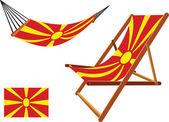 Macedonia hammock and deck chair set — Stock Vector