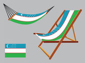 Usbekistan-Hängematte und Liegestuhl — Stockvektor