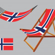 Stock Vector: Svalbard hammock and deck chair set