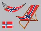 Svalbard hammock and deck chair set — Stock Vector
