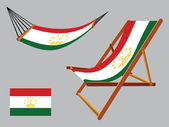 Tajikistan hammock and deck chair — Stock Vector