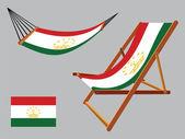 Tajikistan hammock and deck chair — Stock Vector
