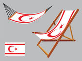 Turkish republic of cyprus hammock and deck chair — Stock Vector
