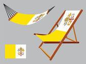 Vatican hammock and deck chair — Stock Vector