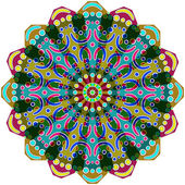 Ornamento geométrico redondo — Vector de stock