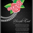 Abstract card for design with rose — 图库矢量图片