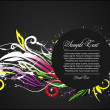 Abstract colorful floral background vector illustration — Imagens vectoriais em stock